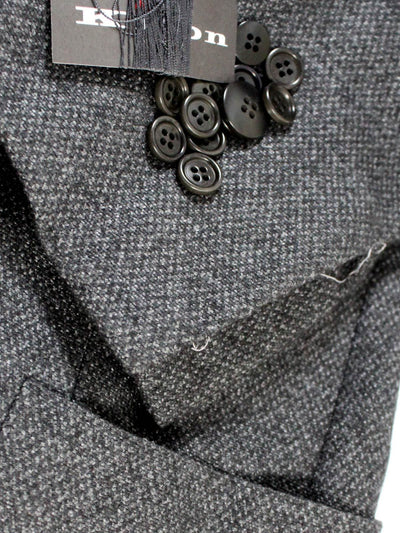 Kiton Cashmere Sport Coat Charcoal Gray buttons