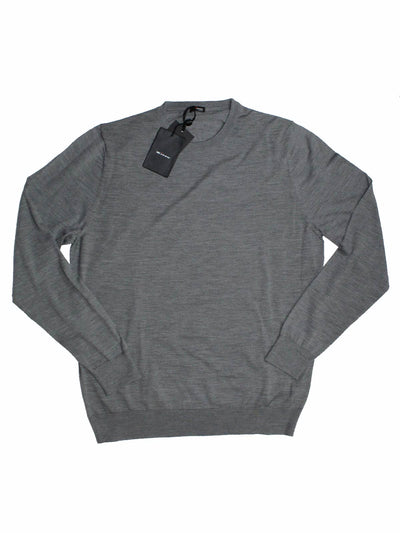 Kiton Wool Sweater Charcoal Gray Crewneck