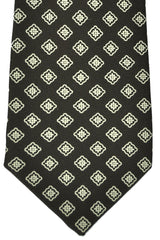 Kiton Sevenfold Tie Brown