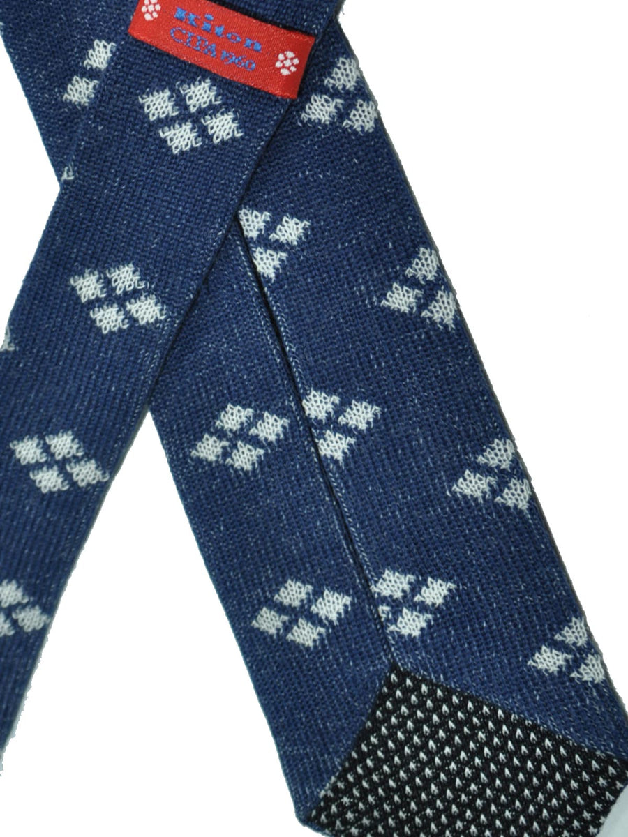 Kiton Skinny Tie Navy White Diamonds Cipa 1960 SALE