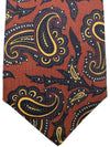 Kiton Tie Brown Paisley - Hand Made Sevenfold Necktie