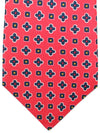 Kiton Sevenfold Tie Red Geometric