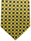 Kiton Sevenfold Tie Black Brown Lime Geometric