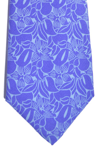 Kiton Sevenfold Tie Purple Floral