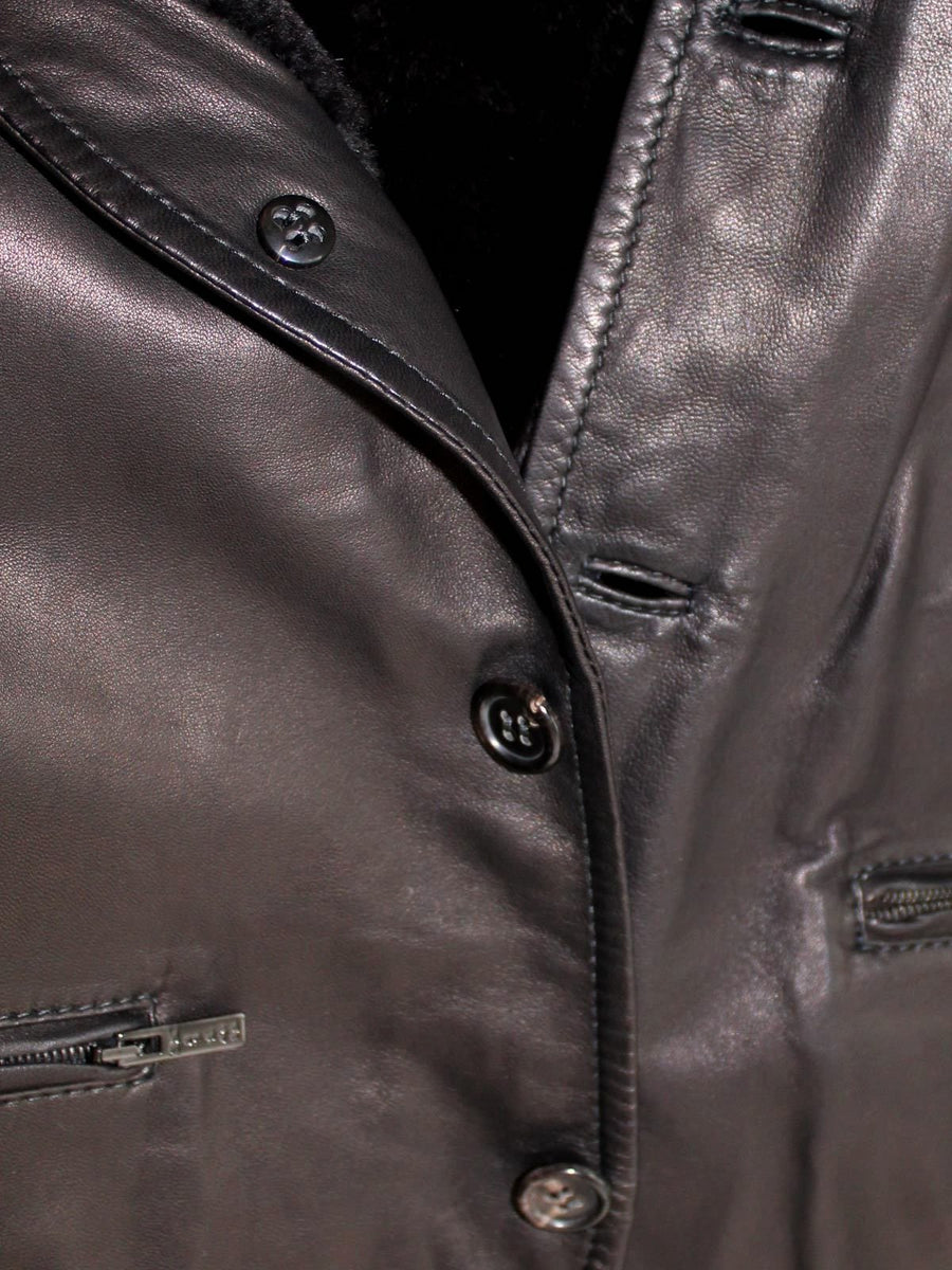 Kiton Vest Dark Brown Leather EUR 48 / US 38 SALE