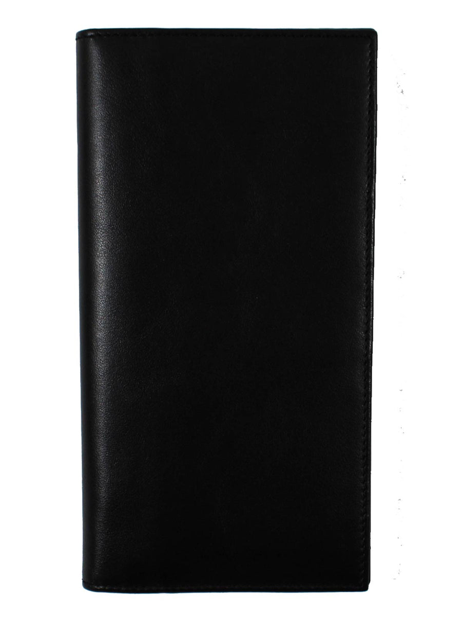 9 Cards Holder Made In Italy Kiton Wallet Black Leather Wallet