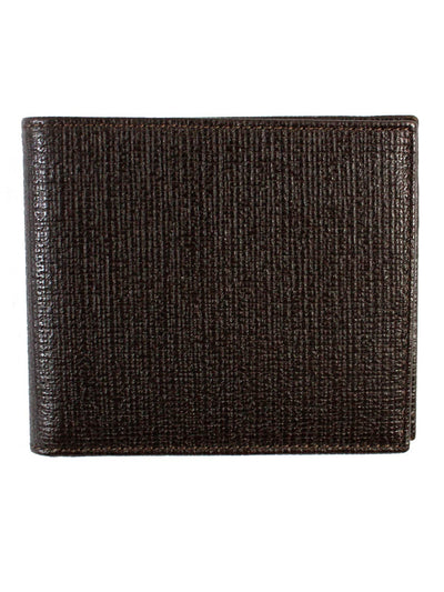 Kiton Wallet - Brown Grain Leather Men Wallet Bifold SALE