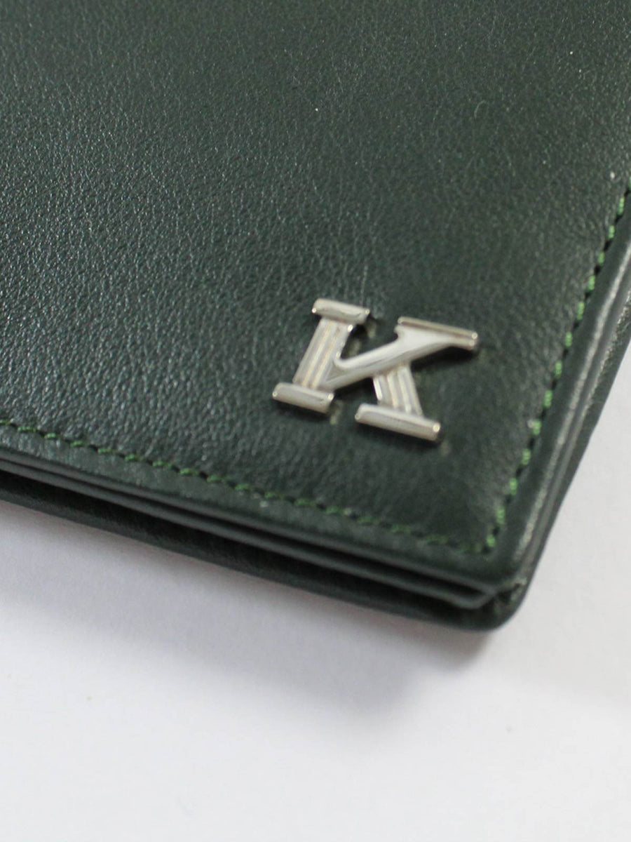 Kiton Green Leather Wallet