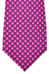 Kiton Sevenfold Tie Purple Pink White