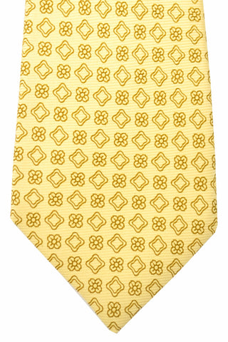 Kiton Sevenfold Tie Cream Taupe Floral FINAL SALE
