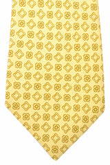 Kiton Sevenfold Tie Cream Taupe Floral