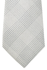 Kiton Sevenfold Tie Gray Silver Stripes