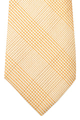 Kiton Sevenfold Tie Silver Gray Cream Stripes