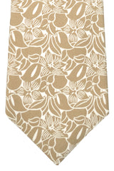 Kiton Sevenfold Tie Taupe Floral