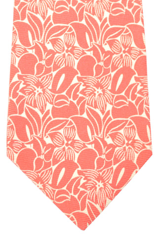 Kiton Sevenfold Tie Pink Floral SALE