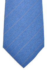 Kiton Sevenfold Tie Navy Stripes