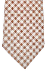 Kiton Tie Silver Brown Stripes - Sevenfold