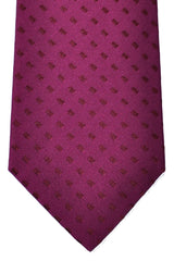 Kiton Tie Raspberry Purple Rectangles - Sevenfold Necktie