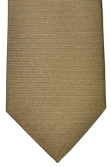 Luigi Borrelli Sevenfold Tie ROYAL COLLECTION Taupe Grosgrain