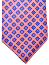 Kiton Tie Pink Royal Blue Geometric - Sevenfold Necktie