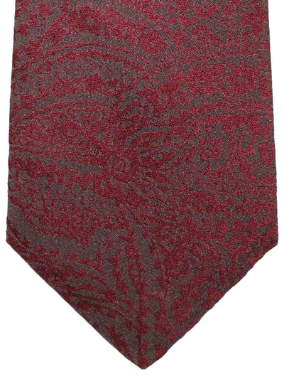 Kiton Silk Tie Brown Ornamental - Sevenfold Necktie