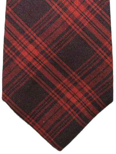 Kiton Silk Tie Brown Plaid - Sevenfold Necktie