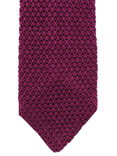 Kiton Skinny Tie Purple Knitted - Cipa 1960