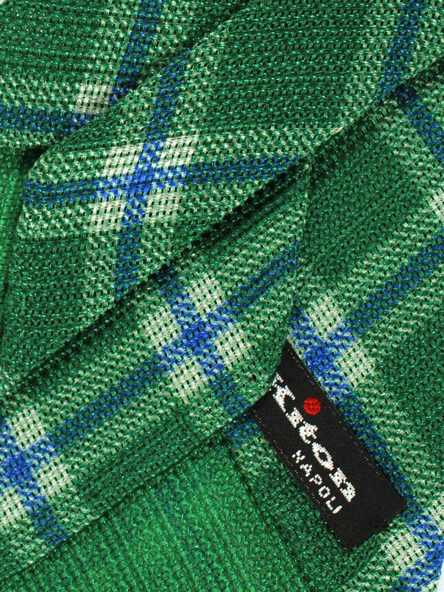 Kiton Tie Green Royal Plaid
