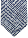 Kiton Sevenfold Tie Gray Dark Blue Glen Check - Silk