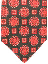 Kiton Sevenfold Tie Black Red Pink Medallions - Silk
