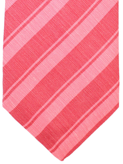 Kiton Sevenfold Tie Pink Stripes Design
