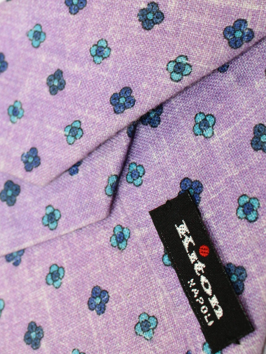 Kiton Sevenfold Tie Lilac Floral
