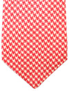 Kiton Sevenfold Tie Red White Houndstooth - Summer Collection