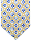Kiton Sevenfold Tie Taupe Royal Geometric