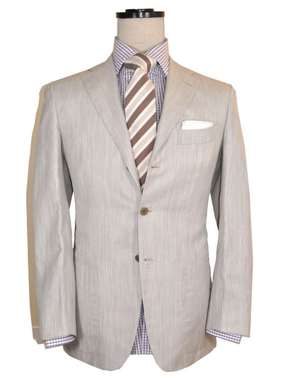 Kiton Sportcoat Light Gray Cashmere Linen Silk