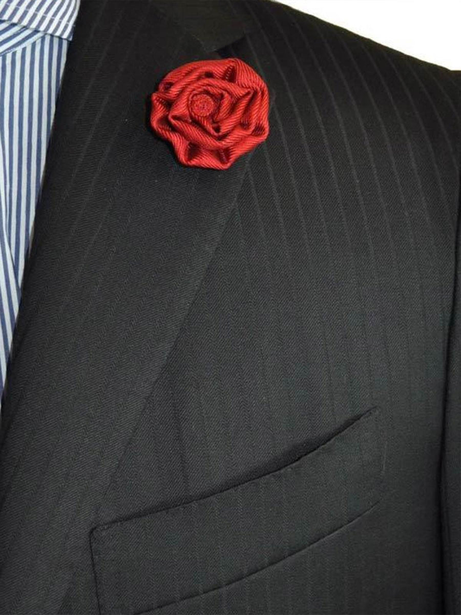 Le Noeud Papillon Silk Lapel Flower Taupe FINAL SALE