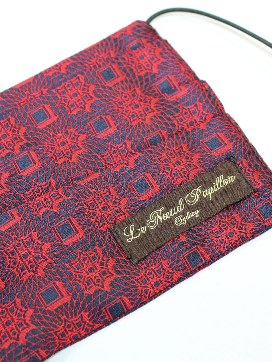 Le Noeud Papillon Silk Face Mask Red Navy Medallion