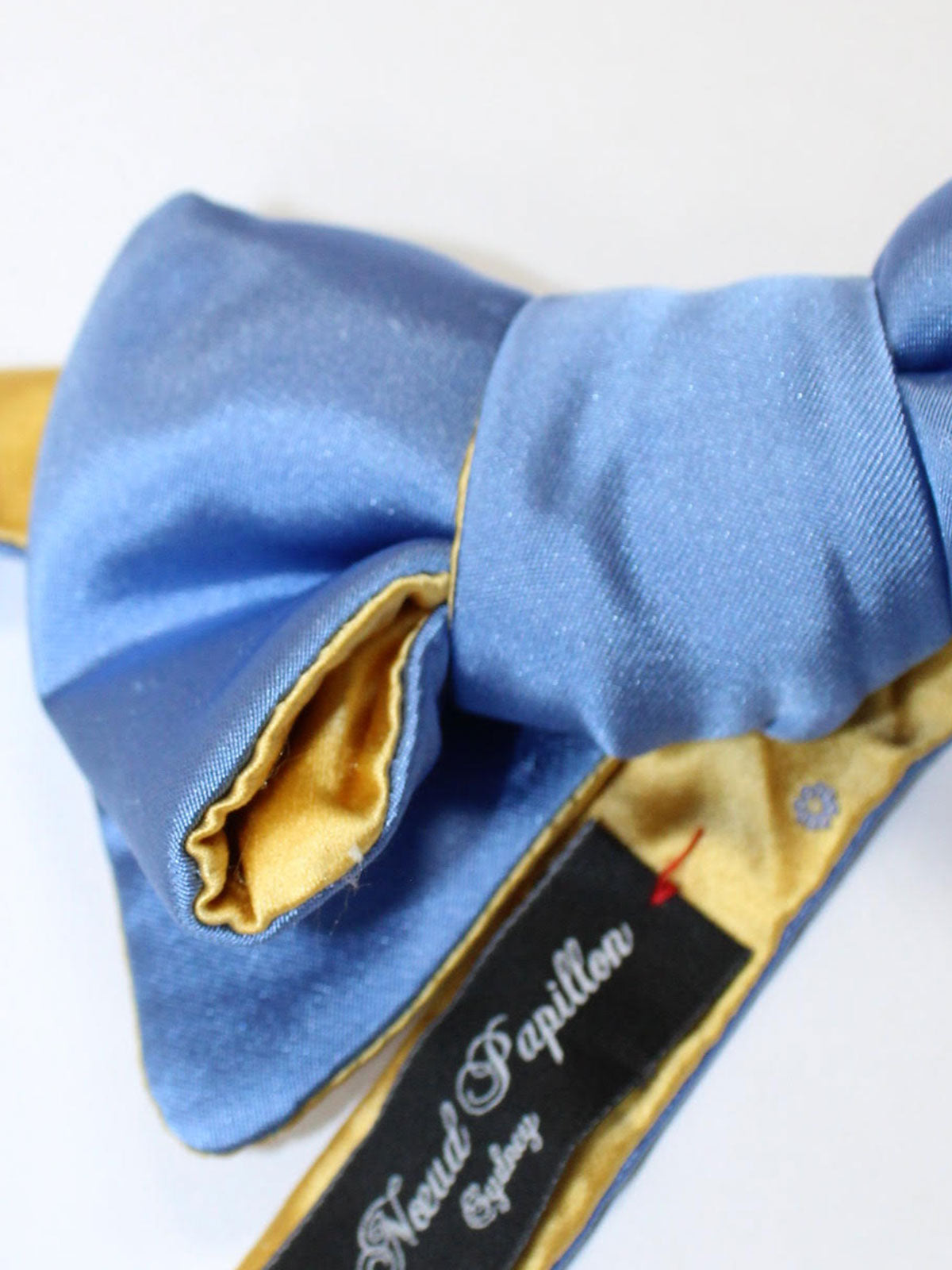 Le Noeud Papillon Bow Tie Blue Yellow Solid - Butterfly Self Tie