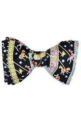 Leonard Silk Bow Tie Black Gold Carousel