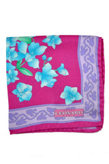 Leonard Paris Pocket Square Fuchsia