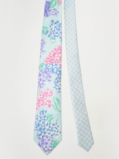 New Leonard Paris Tie Sky Blue Flowers