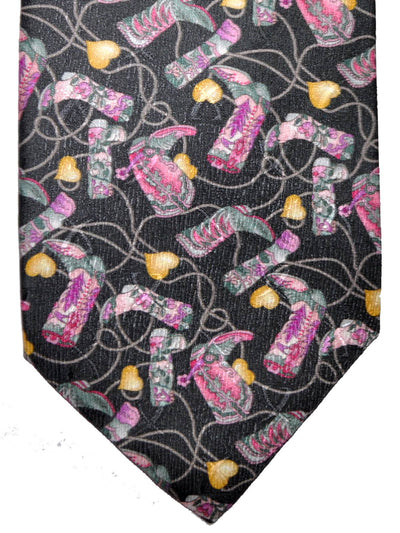 Leonard Tie Gray Pink Boots Novelty Design FINAL SALE