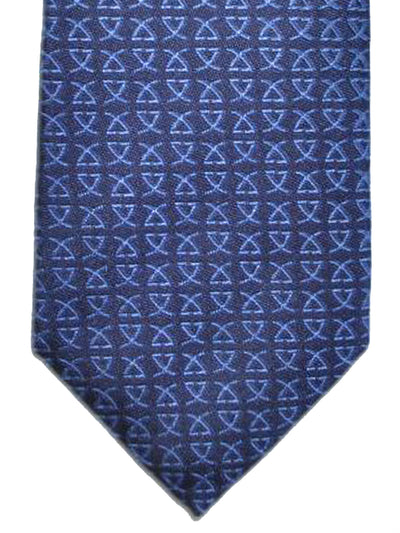 Leonard Tie Dark Blue Logo - Narrow Cut Necktie