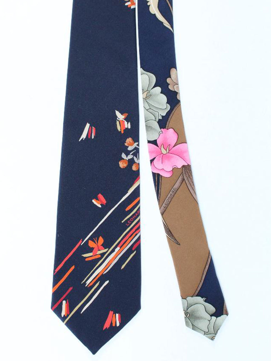Leonard Paris Tie Black Red - Vintage Collection