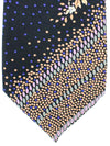Leonard Tie Black Purple Geometric Floral - Vintage Collection