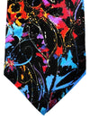 Leonard Paris Tie Black Blue Paint