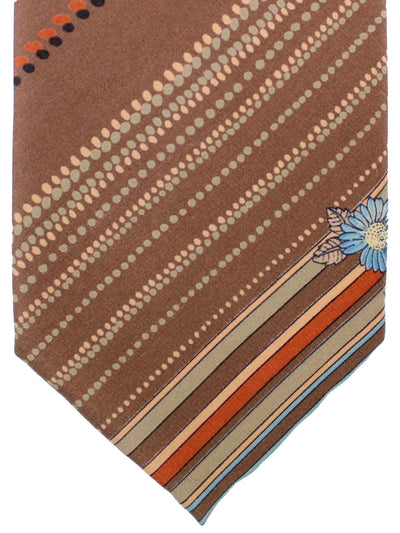 Leonard Tie Brown Stripes Floral - Summer / Fall 2020 Collection