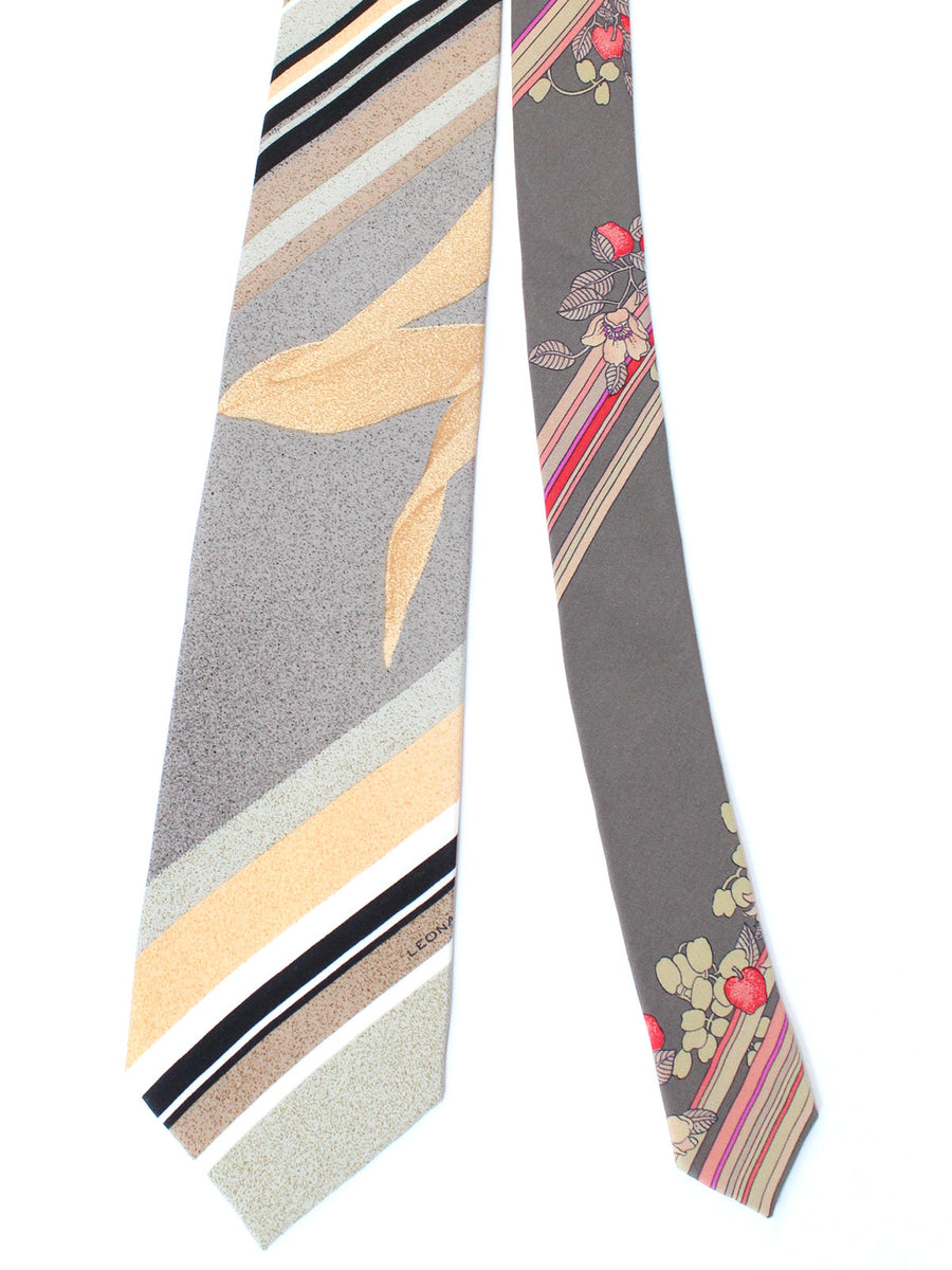 Leonard Paris Tie Gray Stripes - Vintage Collection