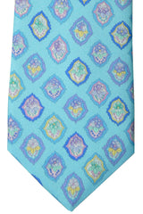 Leonard Paris Tie Aqua Medallion SALE