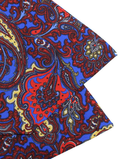 Luigi Monaco Ascot Tie Royal Blue Ornamental
